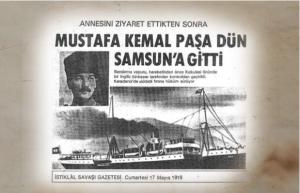 Mustafa Kemal'in Samsun'a Çıkışı (19 Mayıs 1919)