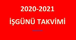 2020-2021 Eğitim ve Öğretim Yılı MEB Çalışma Takvimi