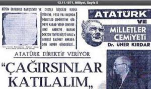 Türkiye'nin Milletler Cemiyeti (Cemiyeti Akvam)'ne Girişi (1932)