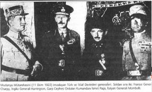 Mudanya Ateşkes Antlaşması (11 Ekim 1922)