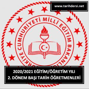 2020-2021 Eğitim-Öğretim Yılı 2. Dönem Başı Tarih Öğretmenleri Zümre Toplantı Tutanağı İNDİR